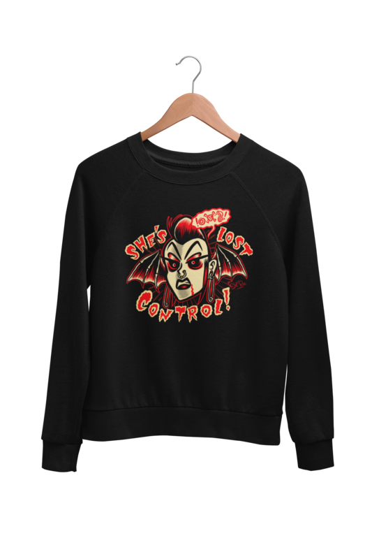 SHE´S LOST CONTROL SWEATSHIRT UNISEX by BY SOL RAC
