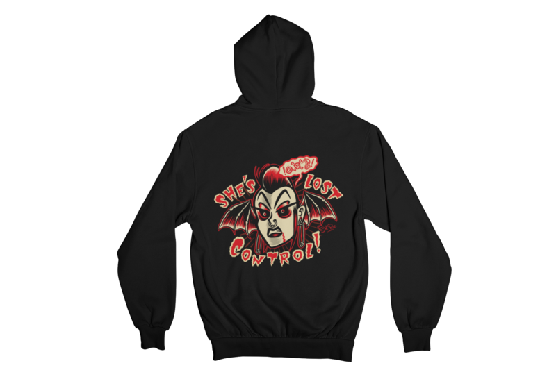 SHE´S LOST CONTROL HOODIE ZIP for WOMEN by SOL RAC