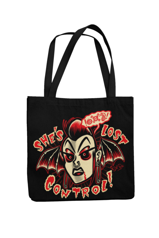 SHE´S LOST CONTROL Cotton Bag  logo design SOL RAC