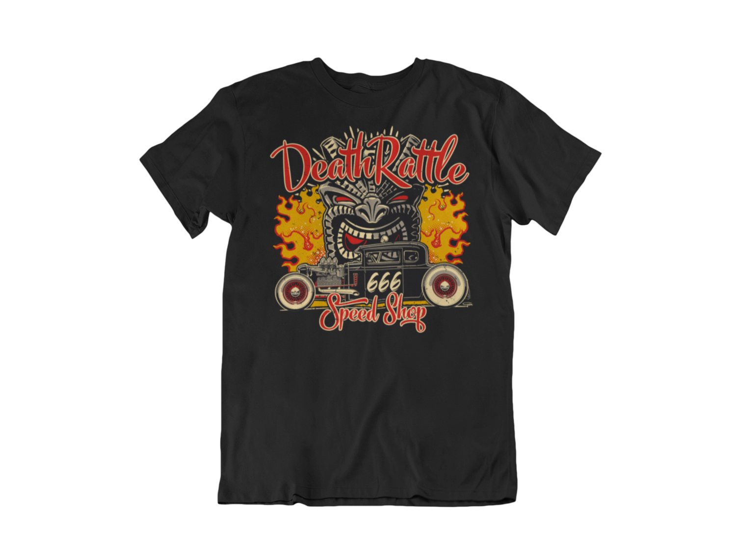 "DEATH RATTLE SPEEDSHOP T-SHIRT MAN BY Ger ""Dutch Courage"" Peters artwork"