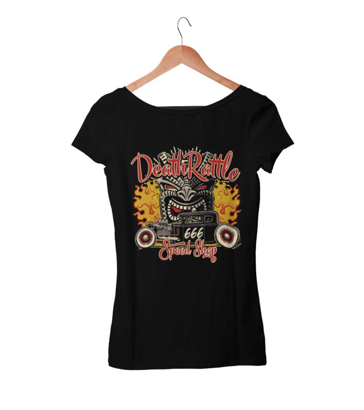 DEATH RATTLE SPEEDSHOP T-SHIRT WOMAN by Ger