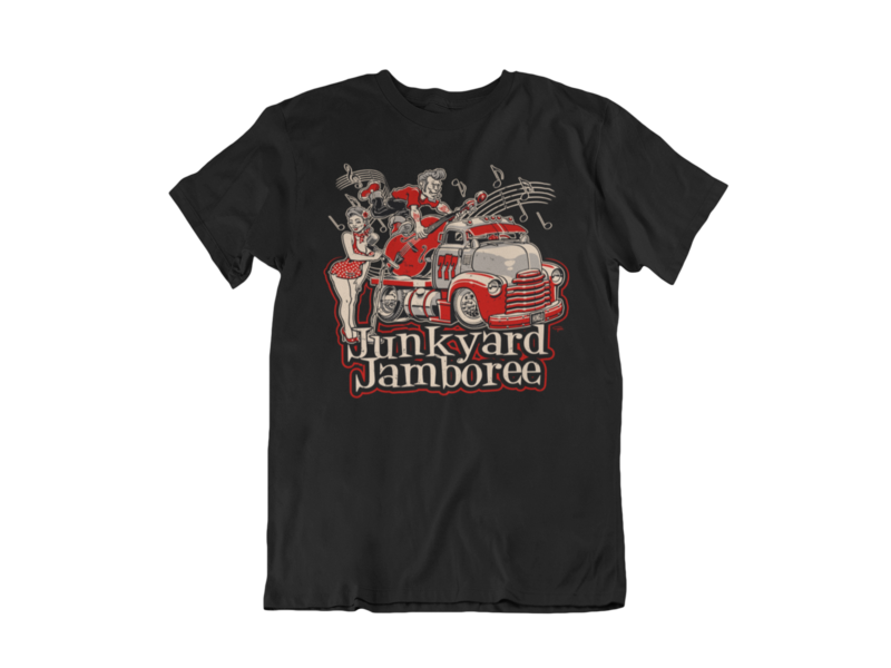 JUNKYARD JAMBOREE ROCKABELLA T-SHIRT MAN BY Ger