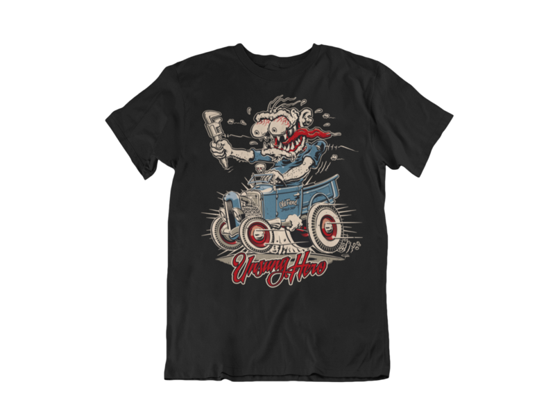 """OLD FIEND MONKEY WRENCH T-SHIRT MAN BY Ger """"Dutch Courage"""" Peters artwork"""