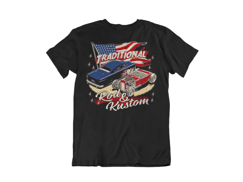 TRADITIONAL ROD & KUSTOM T-SHIRT MAN BY Ger