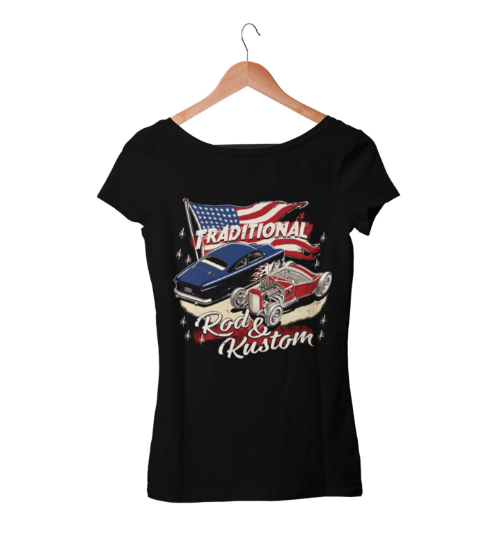 TRADITIONAL ROD & KUSTOM T-SHIRT WOMAN by Ger