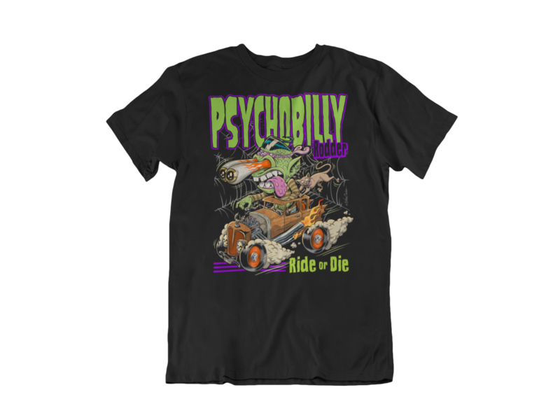 PSYCHOBILLY RODDER T-SHIRT MAN BY NANO BARBERO
