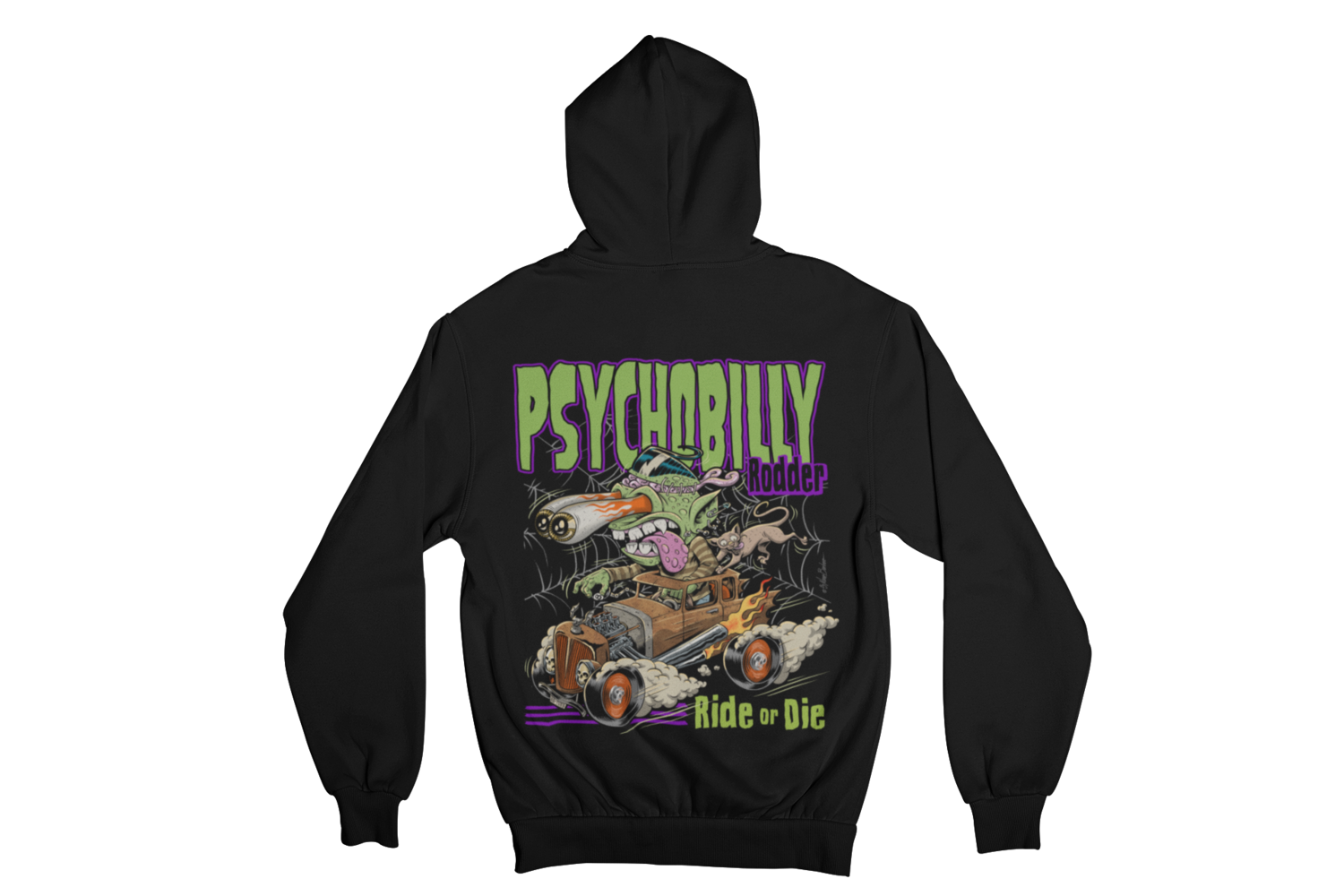 PSYCHOBILLY RODDER HOODIE ZIP for MEN by NANO BARBERO