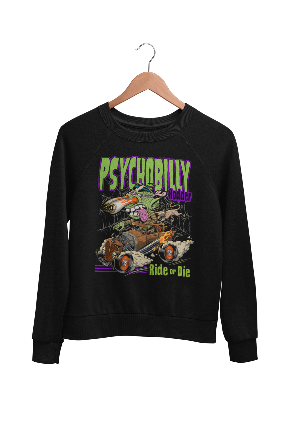 PSYCHOBILLY RODDER SWEATSHIRT UNISEX BY NANO BARBERO