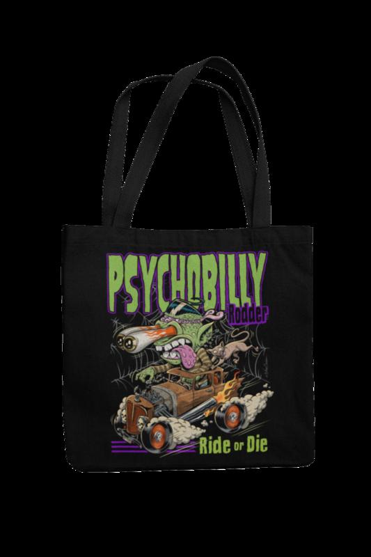 Cotton Bag Psychobilly Rodder design by NANO BARBERO