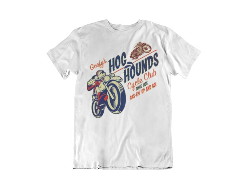 GOOFY´S HOG HOUNDS CYCLE CLUB T-SHIRT MAN