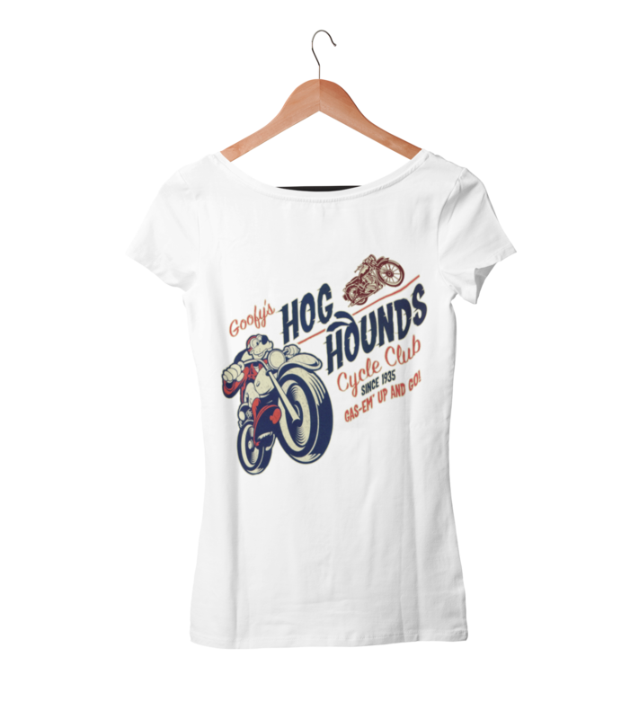 GOOFY´S HOG HOUNDS CYCLE CLUB T-SHIRT WOMAN