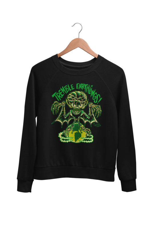TREMBLE EARTHLINGS SWEATSHIRT UNISEX by BY SOL RAC