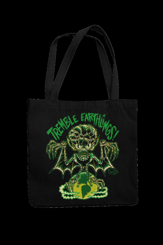 TREMBLE EARTHLINGS Cotton Bag  logo design SOL RAC