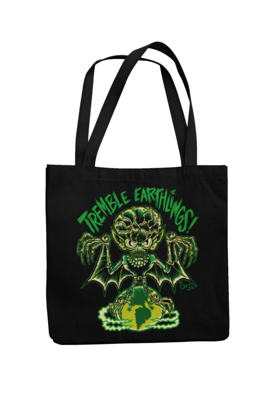 TREMBLE EARTHLINGS Cotton Bag  logo design SOL RAC