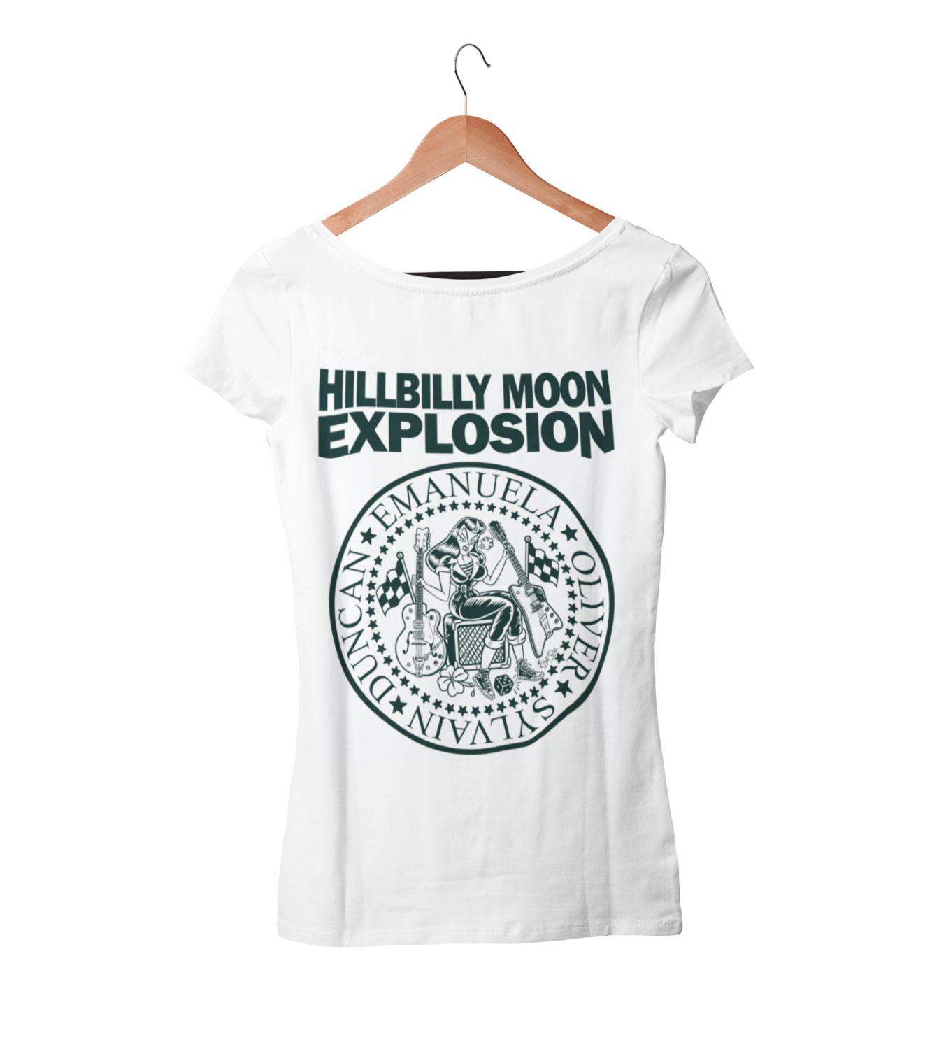 "HILLBILLY MOONG EXPLOSION ""Ramones Explosion"" tshirt for WOMEN by Solrac"