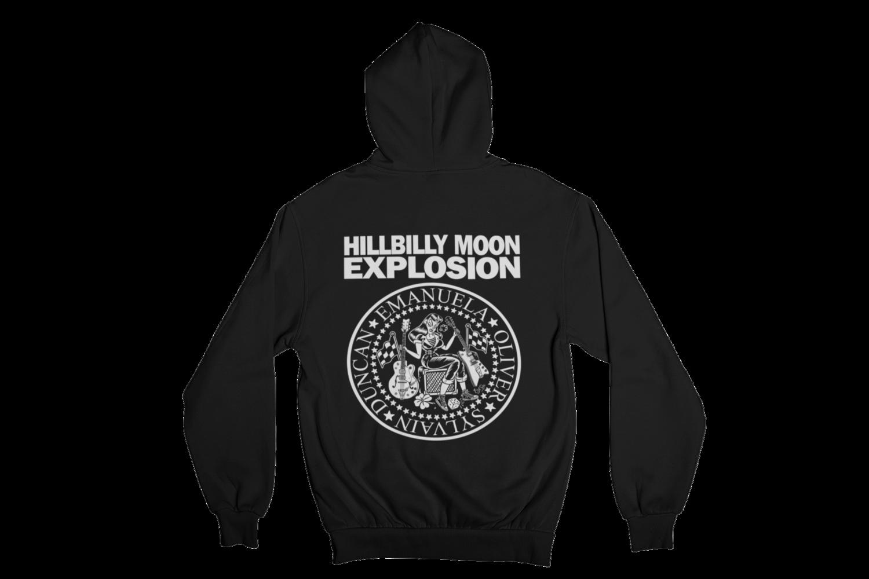 """HILLBILLY MOON EXPLOSION """"Ramones Explosion"""" HOODIE ZIP for WOMEN"""