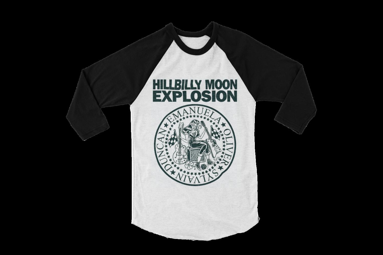 "HILLBILLY MOON EXPLOSION ""Ramones Explosion"" BASEBALL LONG SLEEVE UNISEX"