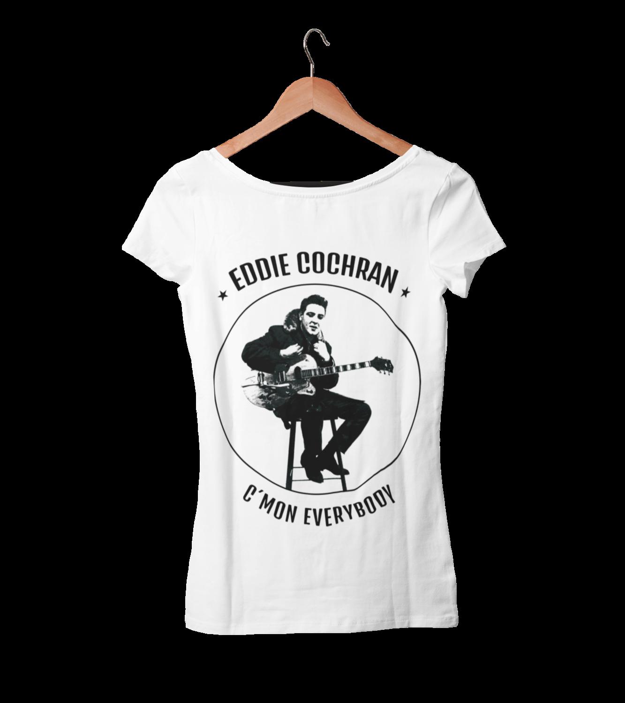 "EDDIE COCHRAN ""C´mon Everybody"" T-SHIRT WOMAN"
