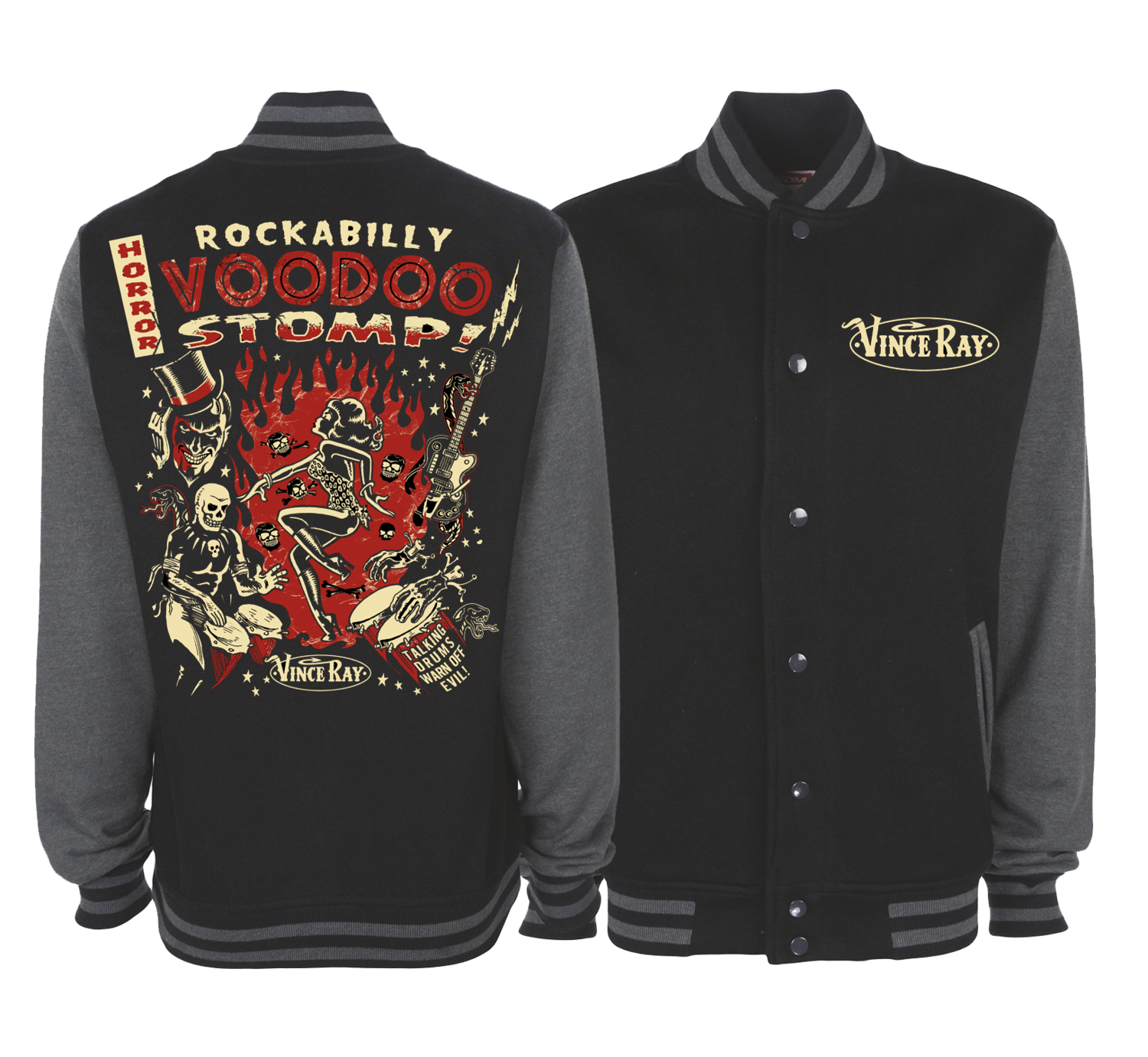ROCKABILLY STOMP VARSITY JACKET Unisex by VINCE RAY