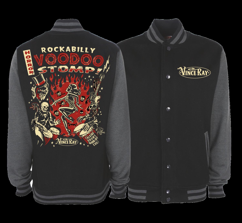 ROCKABILLY STOMP VARSITY JACKET Unisex by VINCE RAY