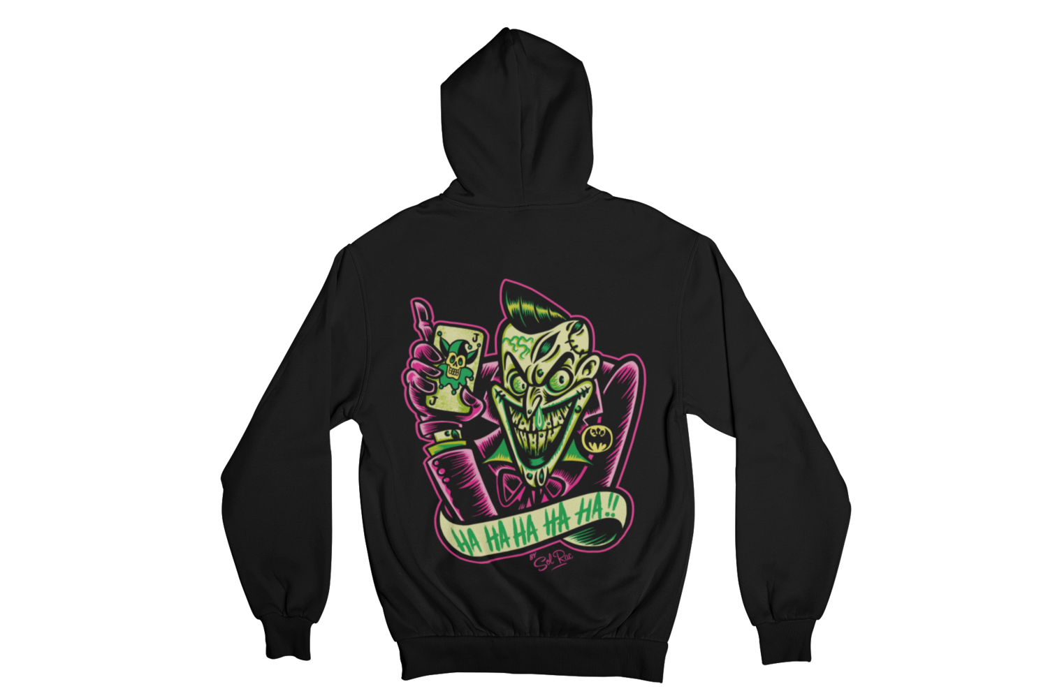 PSYCHO - JOKER HOODIE ZIP for WOMEN by SOL RAC