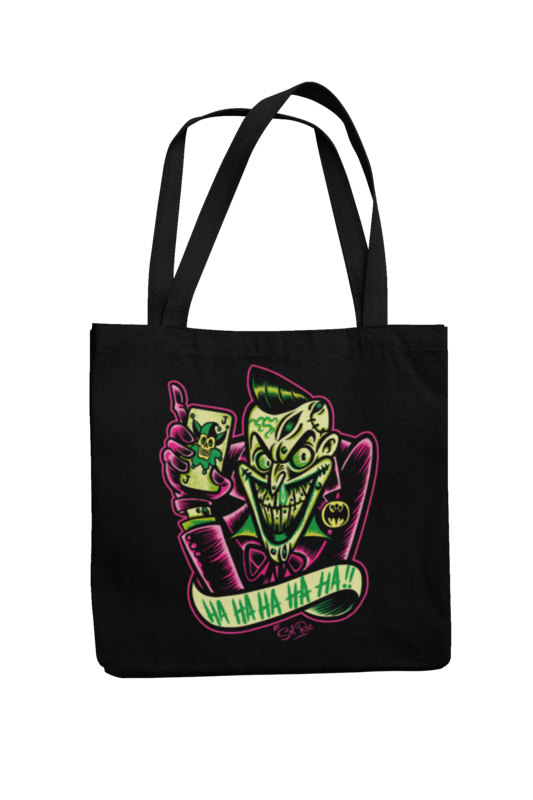 PSYCHO - JOKER Cotton Bag  logo design SOL RAC