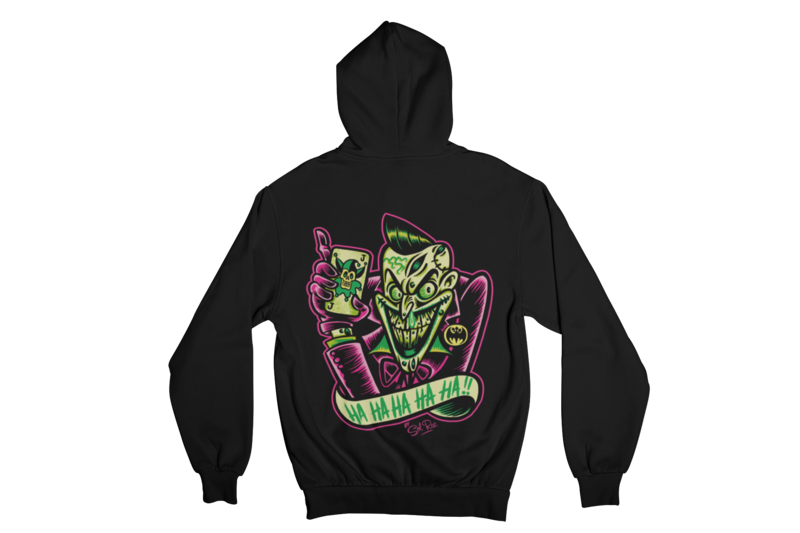 PSYCHO - JOKER HOODIE ZIP for MEN by SOL RAC