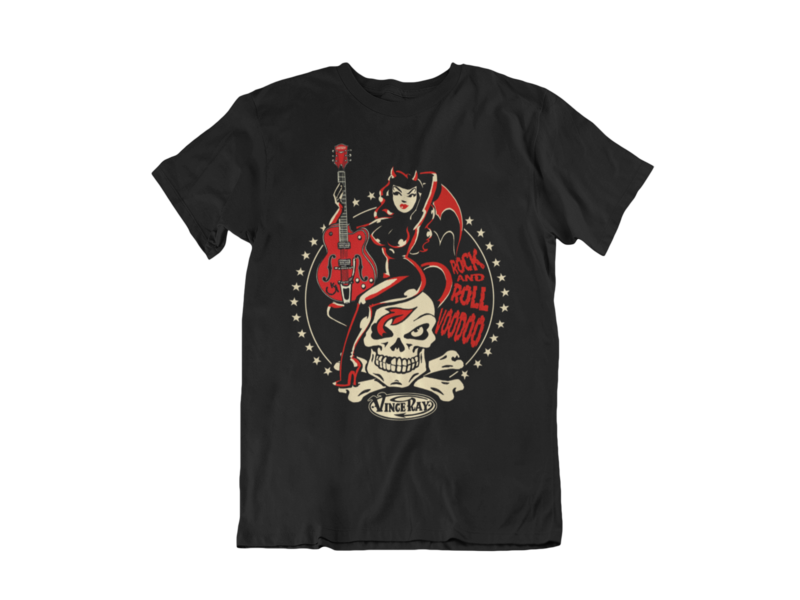 ROCK AND ROLL VOODOO T-SHIRT MAN by VINCE RAY