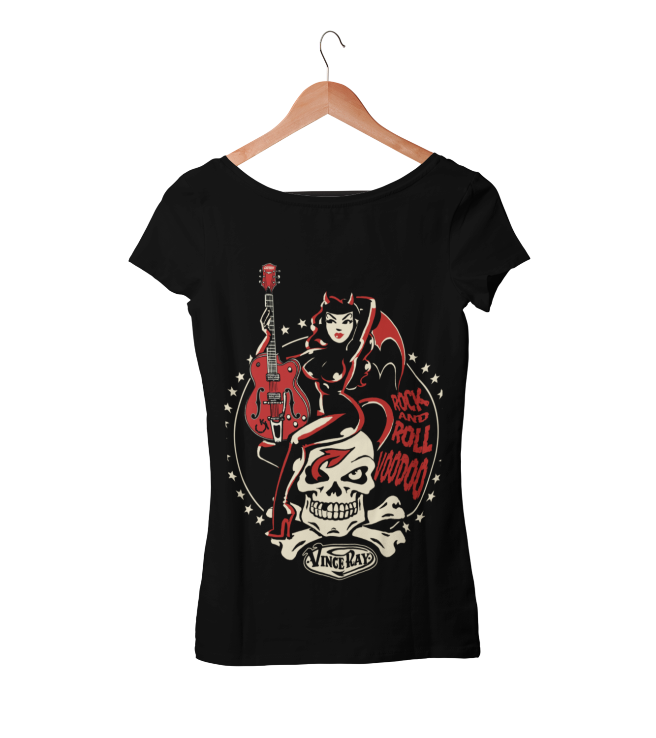 ROCK AND ROLL VOODOO T-SHIRT WOMAN by VINCE RAY