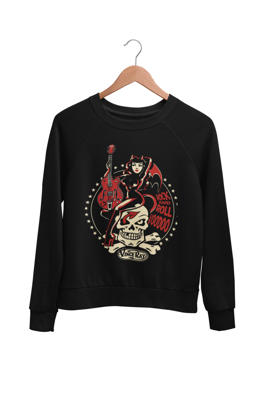 ROCK AND ROLL VOODOO SWEATSHIRT UNISEX by VINCE RAY