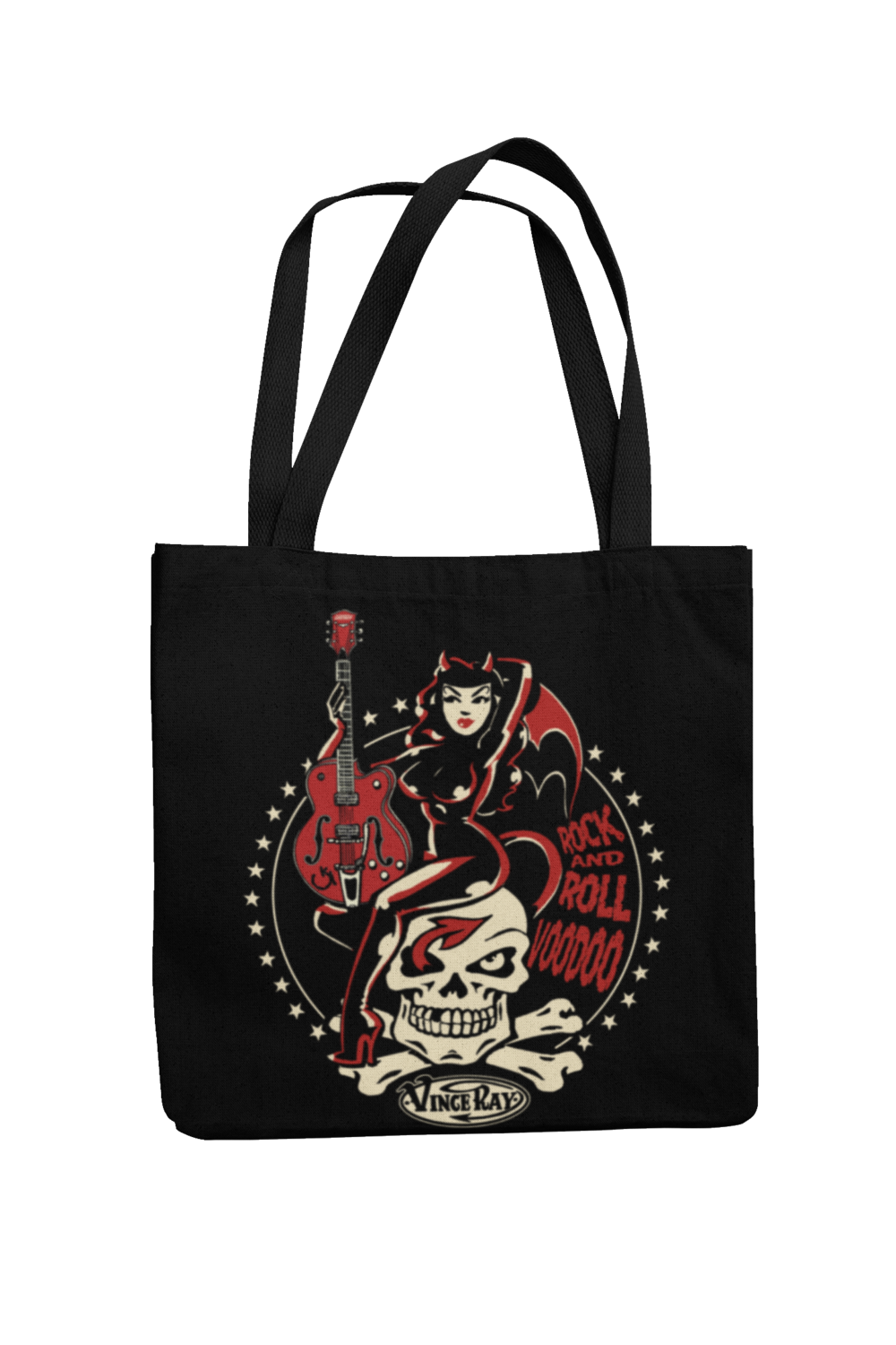 Cotton Bag Rock and roll Voodoo design by VINCE RAY