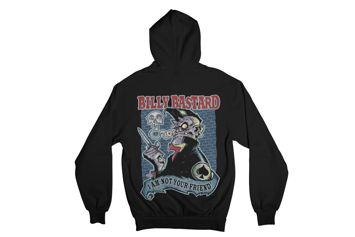 BILLY BASTARD HOODIE ZIP for WOMEN by PASKAL