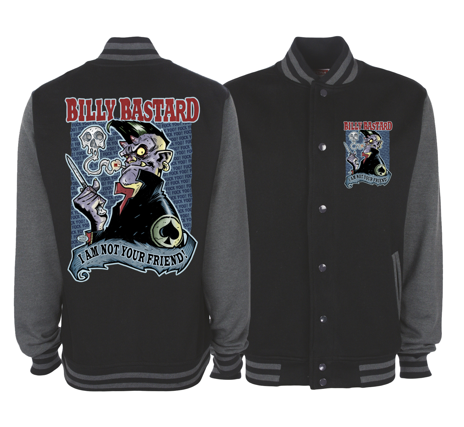 BILLY BASTARD VARSITY JACKET UNISEX BY PASKAL