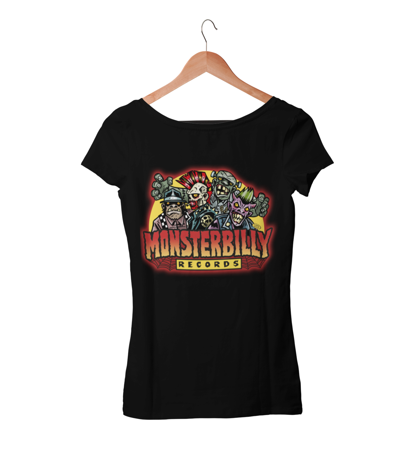 MONSTERBILLY RECORDS T-SHIRT WOMAN BY PASKAL MILLET