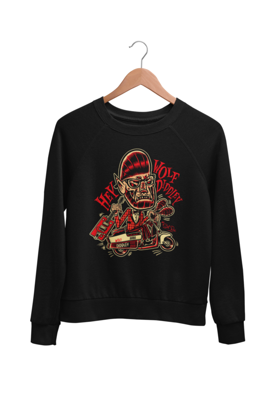 WOLF DIDDLEY SWEATSHIRT UNISEX by BY SOL RAC