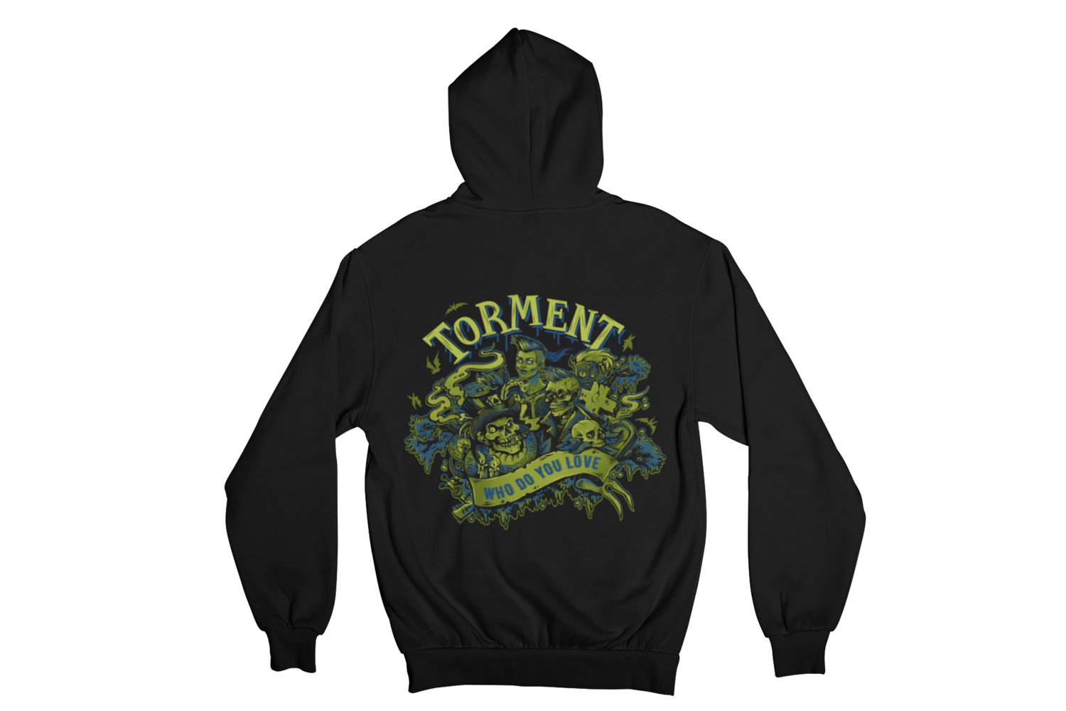 "TORMENT  ""WHO DO YOU LOVE"" HOODIE ZIP for MEN"