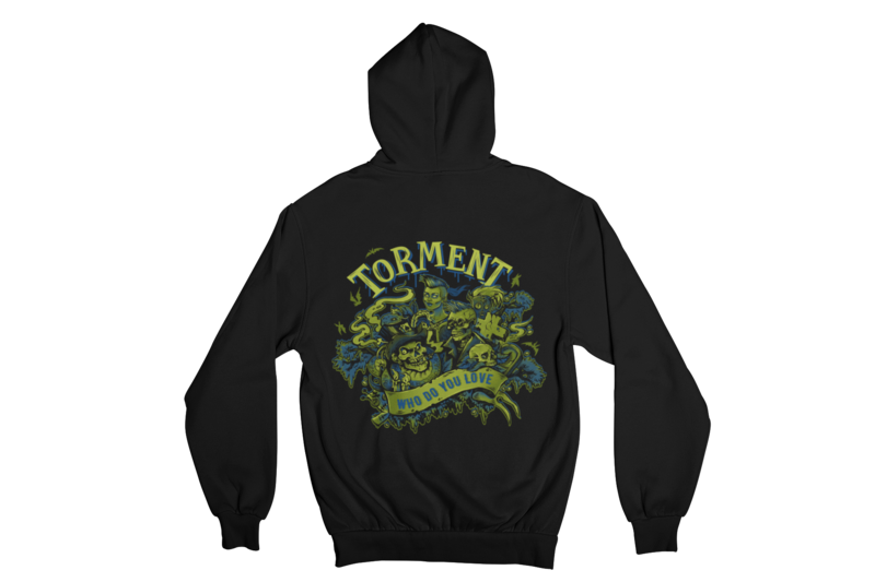 "TORMENT ""WHO DO YOU LOVE"" HOODIE ZIP for WOMEN"