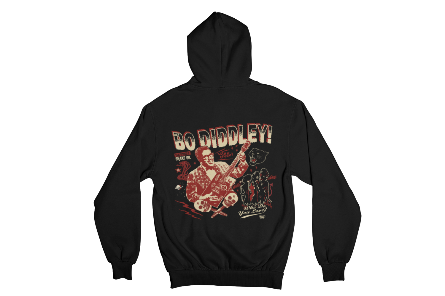 BO DIDDLEY HOODIE ZIP for MEN by VINCE RAY