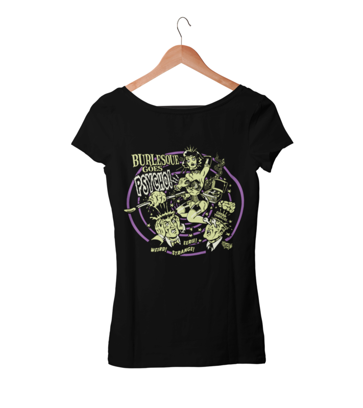 BURLESQUE GOES PSYCHO T-SHIRT WOMAN by VINCE RAY
