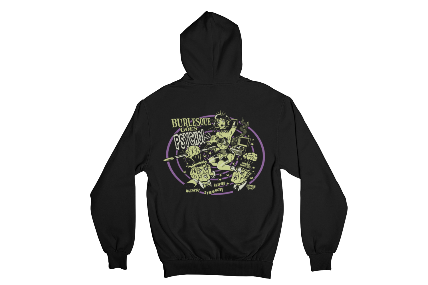 BURLESQUE GOES PSYCHO HOODIE ZIP for MEN by VINCE RAY