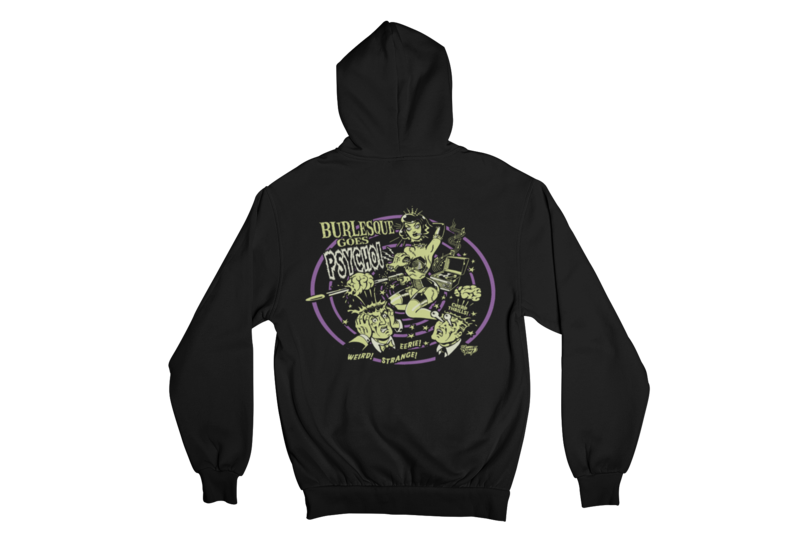 BURLESQUE GOES PSYCHO HOODIE ZIP for WOMEN by VINCE RAY