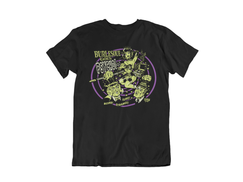 BURLESQUE GOES PSYCHO T-SHIRT MAN by VINCE RAY