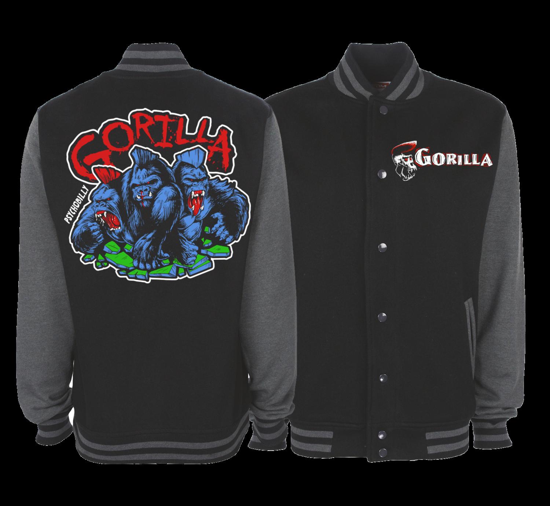 """GORILLA """"4 colours logo"""" VARSITY JACKET UNISEX"""