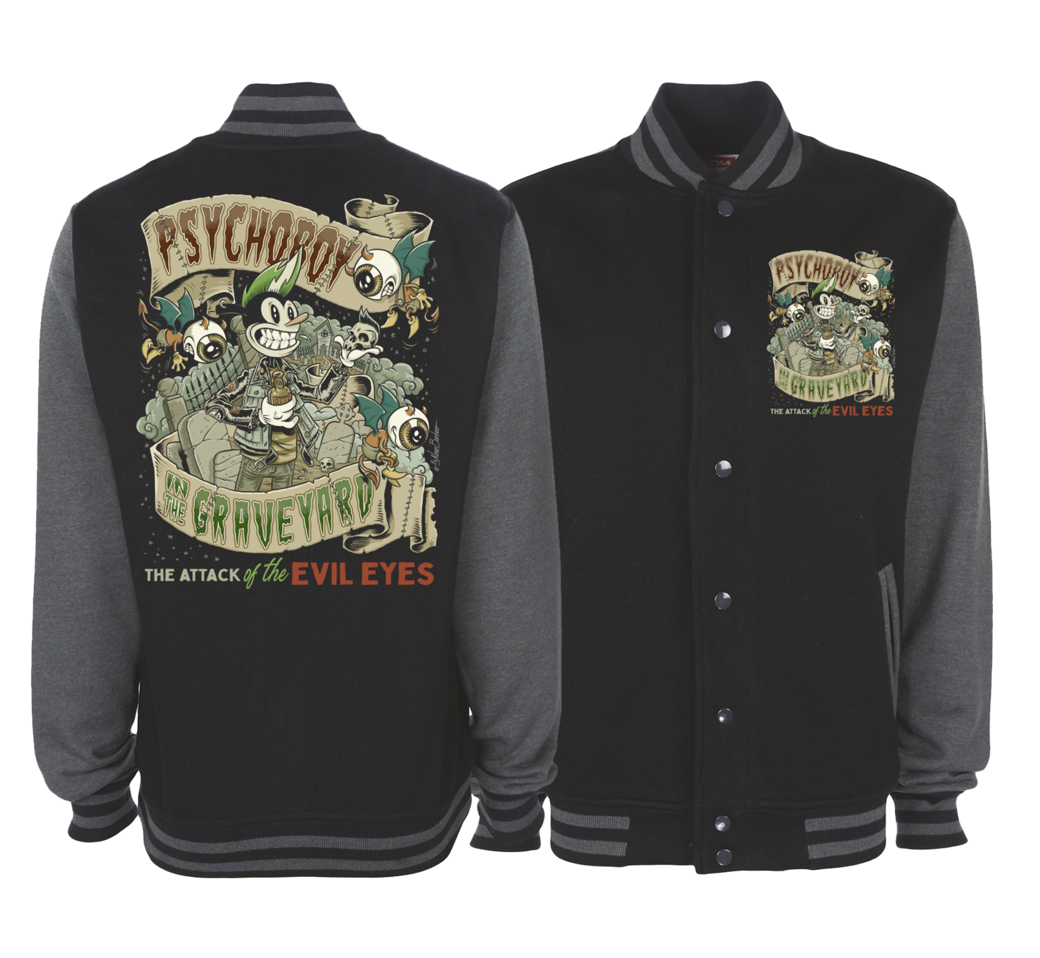 PSYCHO BOY VARSITY JACKET UNISEX BY NANO BARBERO
