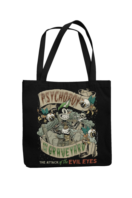 Cotton Bag Psycho Boy design by NANO BARBERO