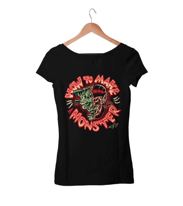 HOW TO MAKE A MONSTER T-SHIRT WOMAN BY SOL RAC