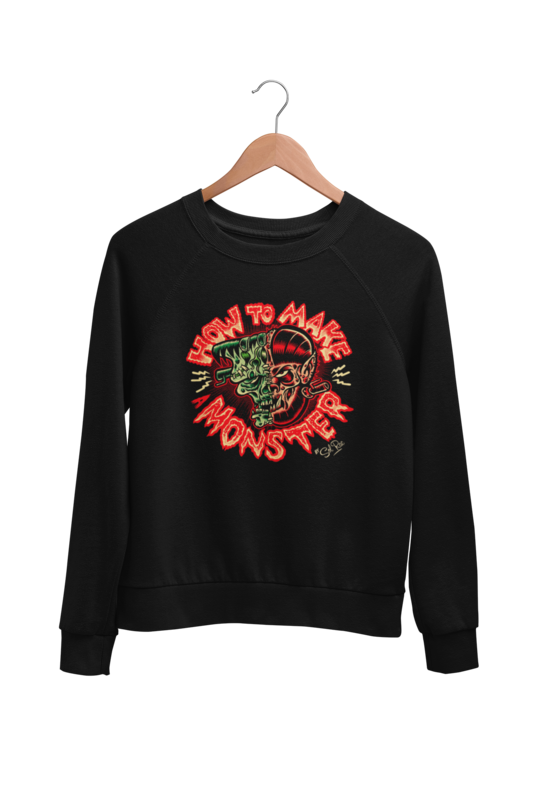 HOW TO MAKE A MONSTER SWEATSHIRT UNISEX by BY SOL RAC