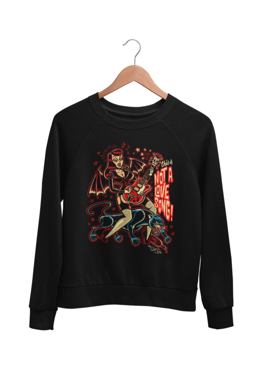 THIS IS NOT A LOVE SONG SWEATSHIRT UNISEX by BY SOL RAC