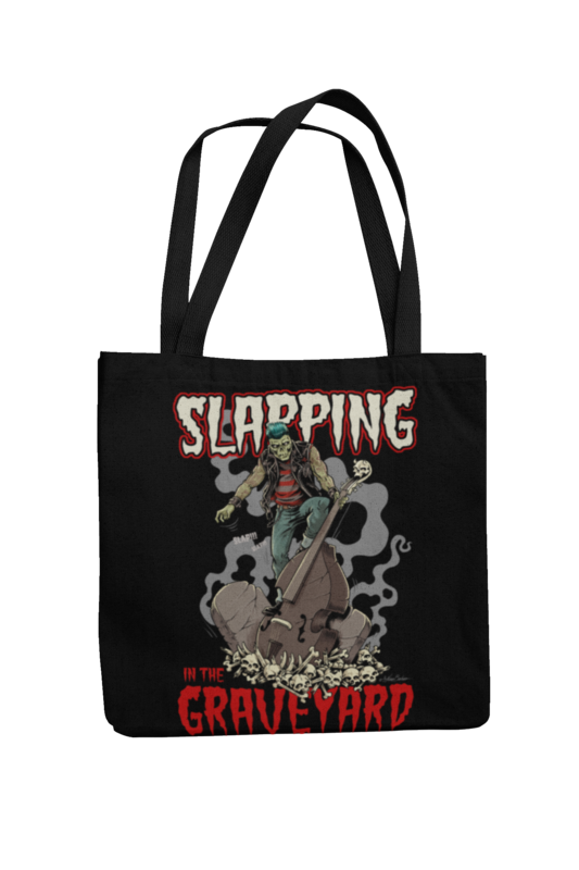 Cotton Bag Slapping in the graveyard design by NANO BARBERO