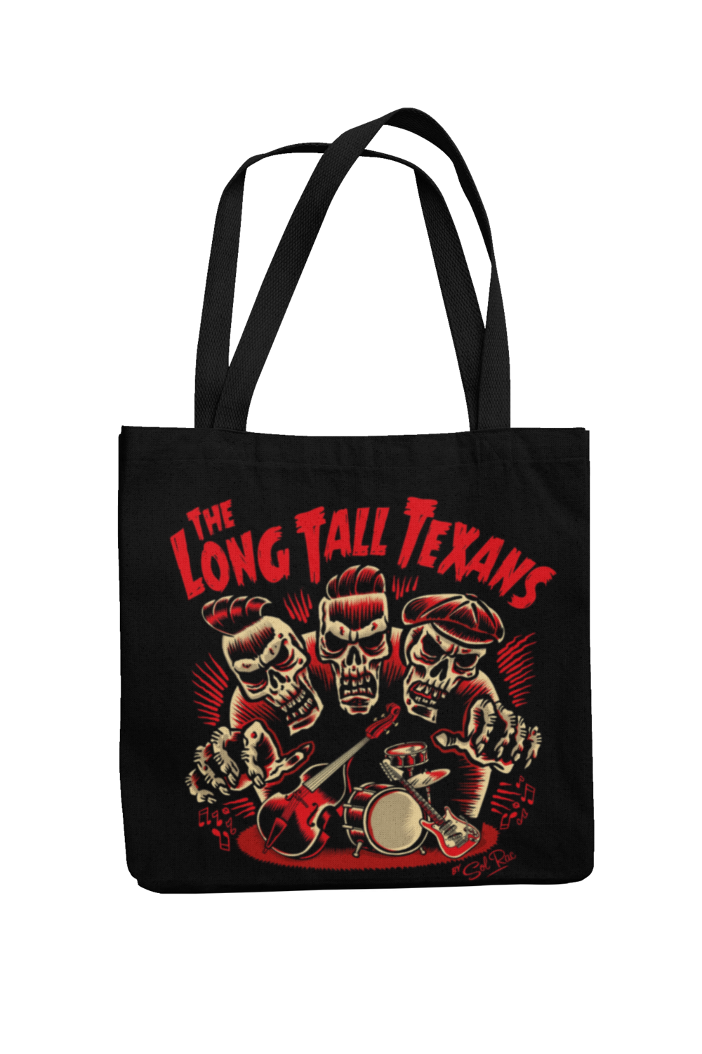 LONG TALL TEXANS Cotton Bag  3 skulls